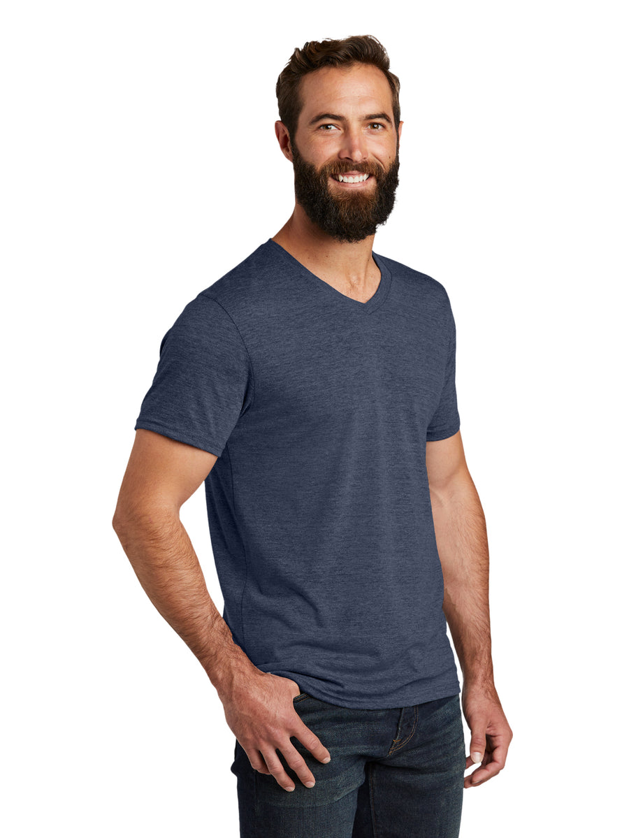 Allmade Men's Rebel Blue Tri-Blend Short Sleeve V-Neck T-Shirt | Allmade® Apparel