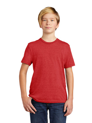 Allmade Youth Rise Up Red Tri-Blend Short Sleeve Crew Neck T-Shirt | Allmade® Apparel