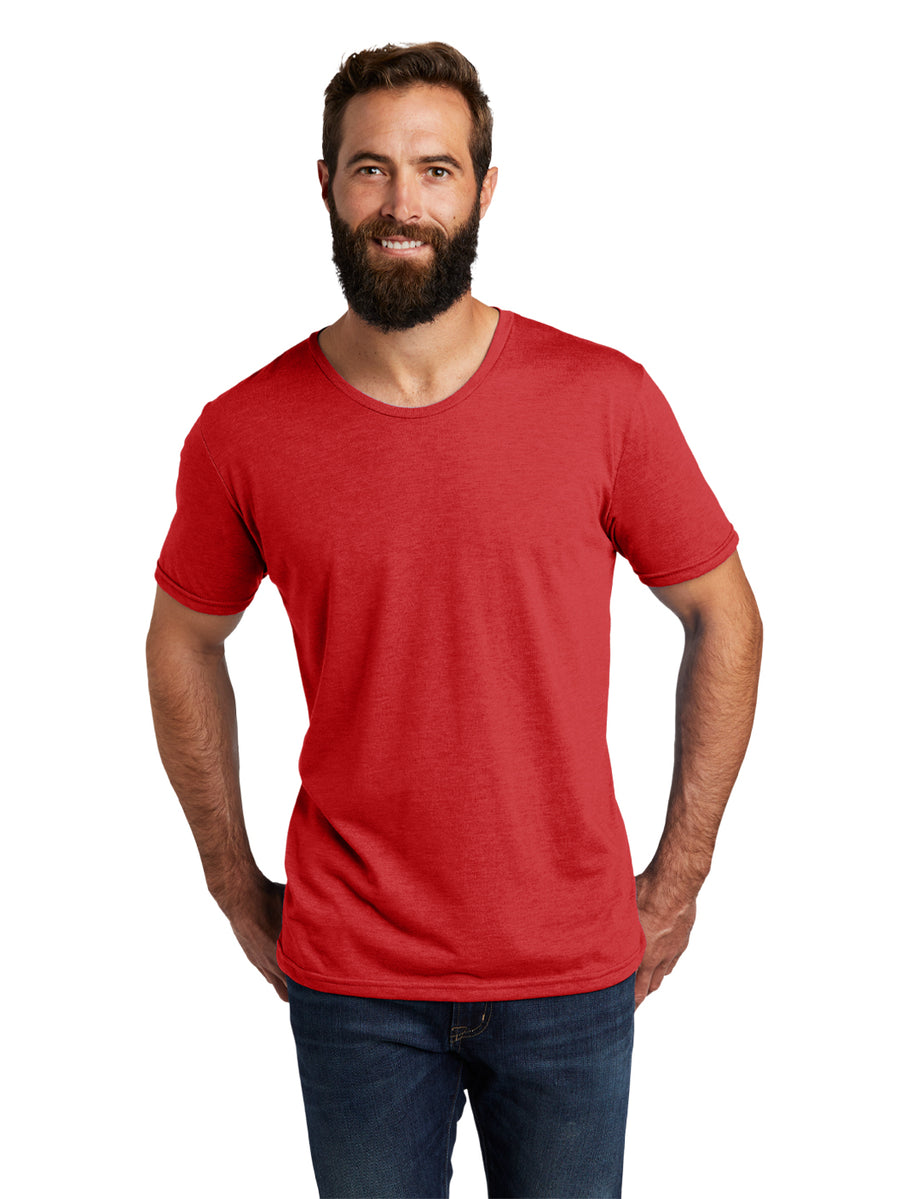 Allmade Men's Rise Up Red Tri-Blend Short Sleeve Crew Neck T-Shirt | Allmade® Apparel