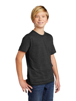 Allmade Youth Space Black Tri-Blend Short Sleeve Crew Neck T-Shirt | Allmade® Apparel