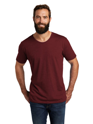 Allmade Men's Vino Red Tri-Blend Short Sleeve Crew Neck T-Shirt | Allmade® Apparel