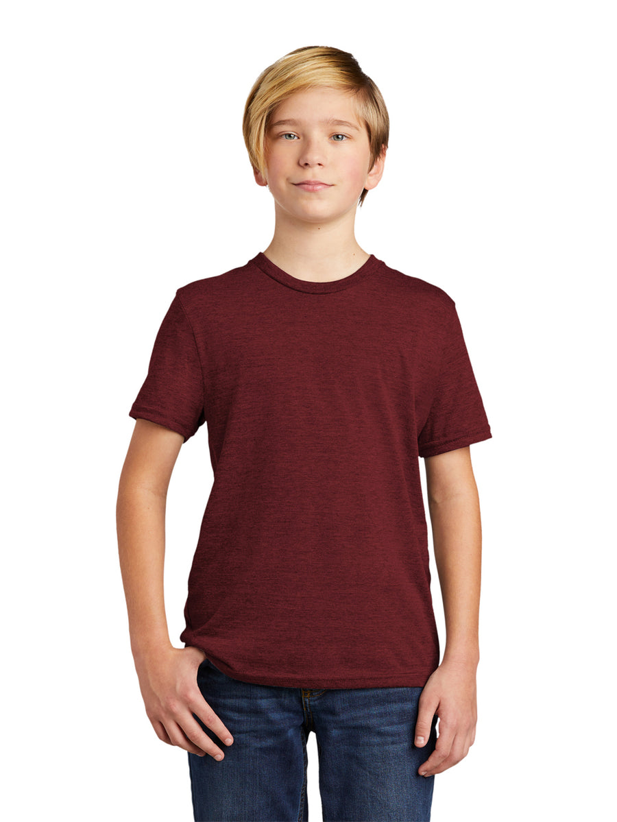 Allmade Youth Vino Red Tri-Blend Short Sleeve Crew Neck T-Shirt | Allmade® Apparel
