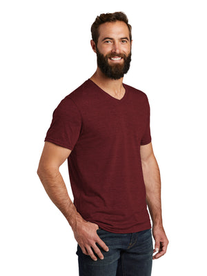 Allmade Men's Vino Red Tri-Blend Short Sleeve V-Neck T-Shirt | Allmade® Apparel
