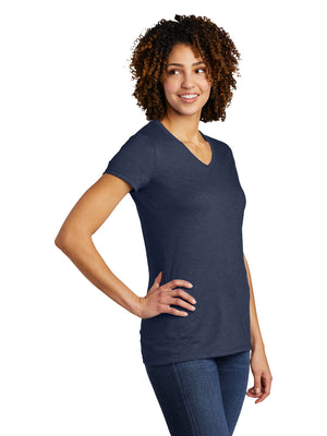 Allmade Women's Rebel Blue Tri-Blend Short Sleeve V-Neck T-Shirt | Allmade® Apparel