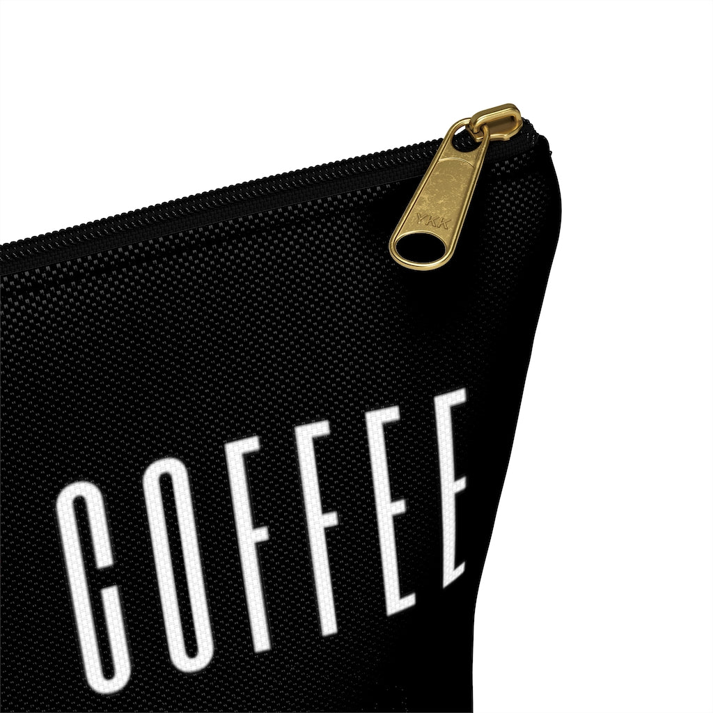I Heart Coffee t-bottom pouch zipper