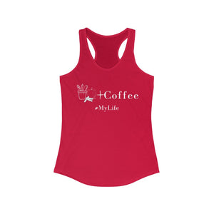 #MyLife - Teaching + Coffee Tank in red