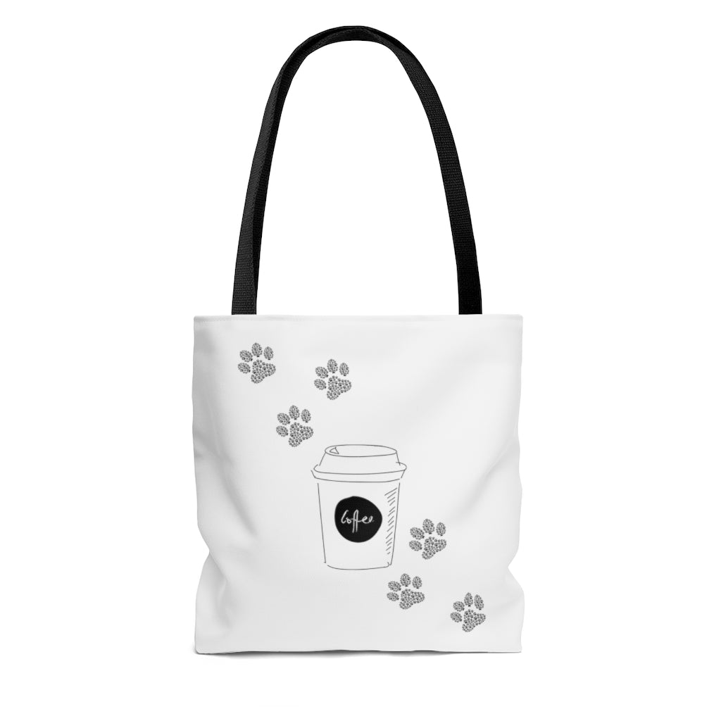 coffee paws tote small