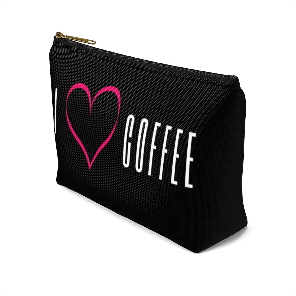 I Heart Coffee t-bottom pouch right side