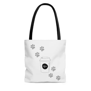 coffee paws tote medium
