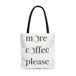 More Coffee Please tote bag