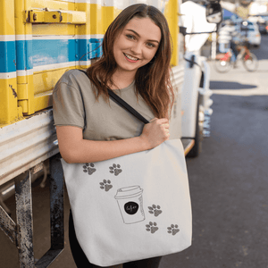 Coffee Paws Tote Bag