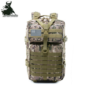 Oxford Tactical Backpack Military Backpack Waterproof Army Rucksack Outdoor Camping Hiking Fishing Large Capacity Bags