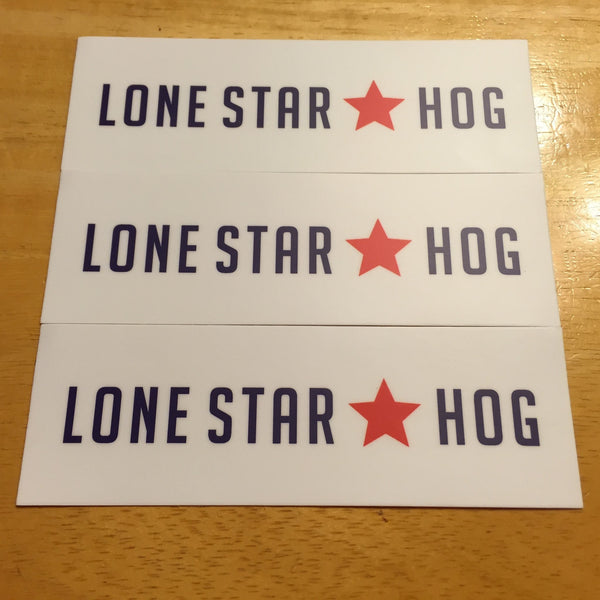 The Lone Star Hog Decal