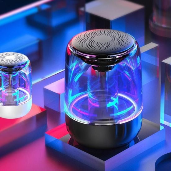 Portable Bluetooth 5.0 Transparent LED Speaker