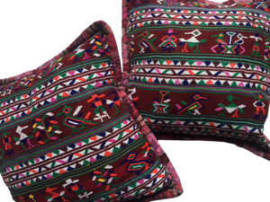 Burgundy Guatemalan Pillows