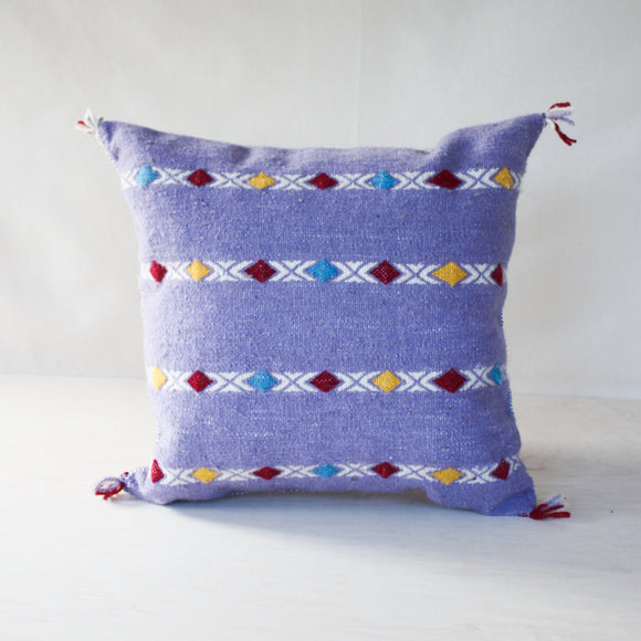 LOOM Imports -Lavender Stripe Diamond Pillow