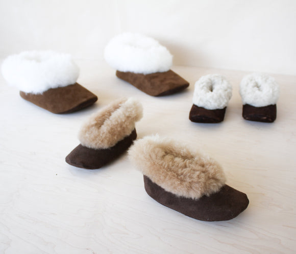 LOOM Imports -Alpaca Fur Leather Slippers