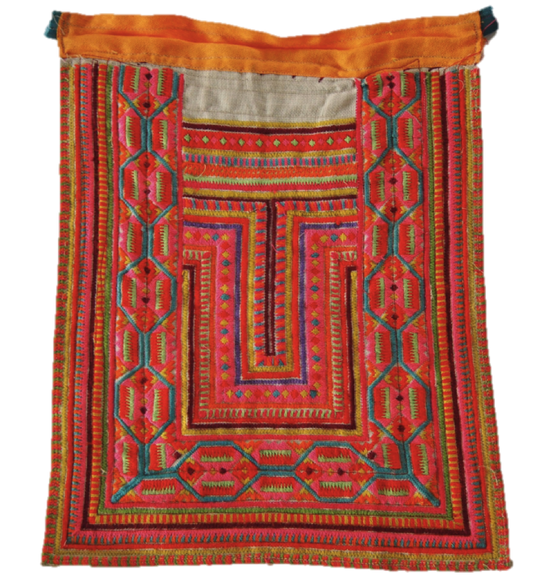 Vintage Hill Tribe Pink Thai Textile