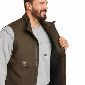 Ariat Men's Brown Rebar Washed DuraCanvas Insulated Vest