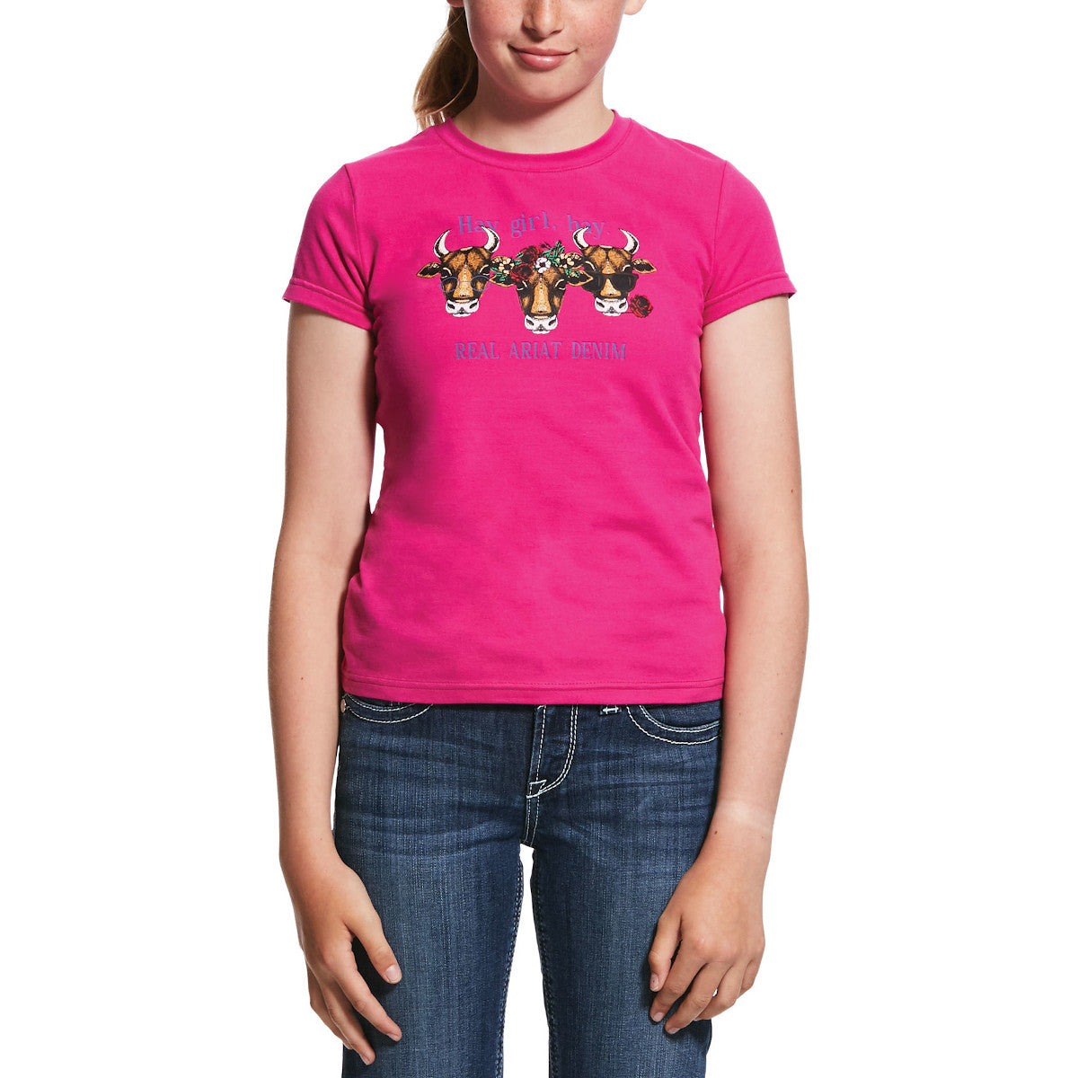 Ariat Kids' Pink R.E.A.L. Hay Girl Short Sleeve T-Shirt
