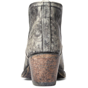 Ariat Women's Distressed Black Dixon Ankle Cowgirl Boots