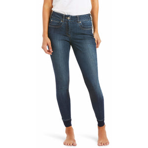 Ariat Women's Halo Denim Knee Patch Breeches
