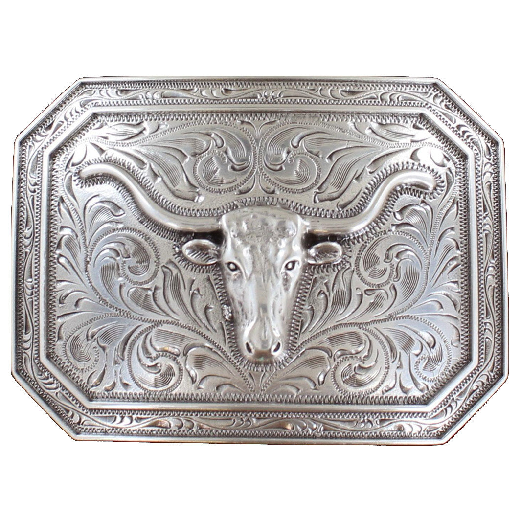 Ariat Longhorn Western Belt Buckle