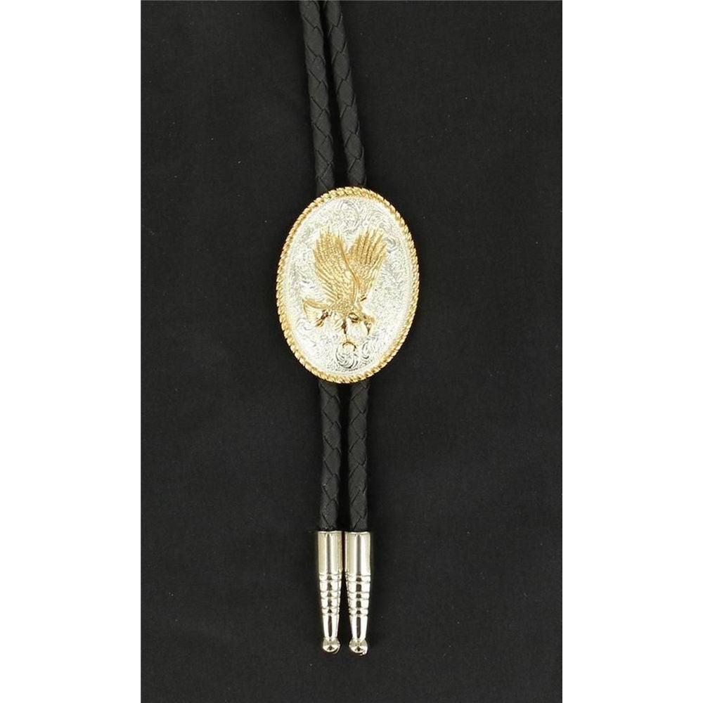 Bolo Tie with Gold Eagle