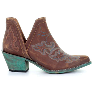 Circle G by Corral Women's Teal Embroidered Ankle Boots