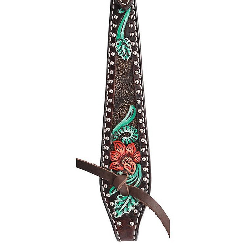 Circle Y Cactus Flower Filigree Browband Headstall