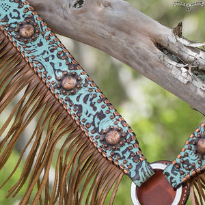 Circle Y Limited Turquoise Metallic Breast Collar