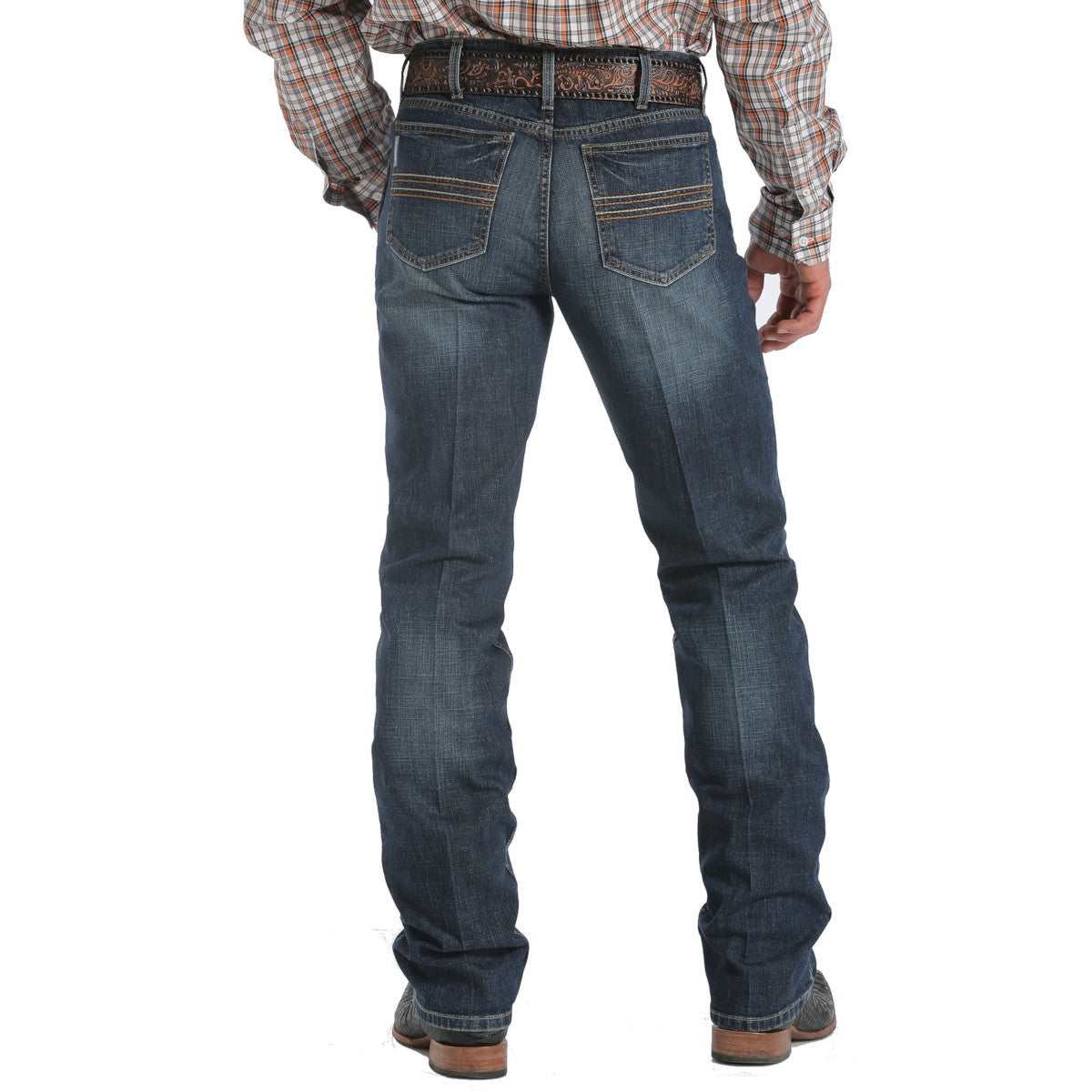 Cinch Men's Silver Label Mid Rise Slim Fit Straight Leg Performance Jeans