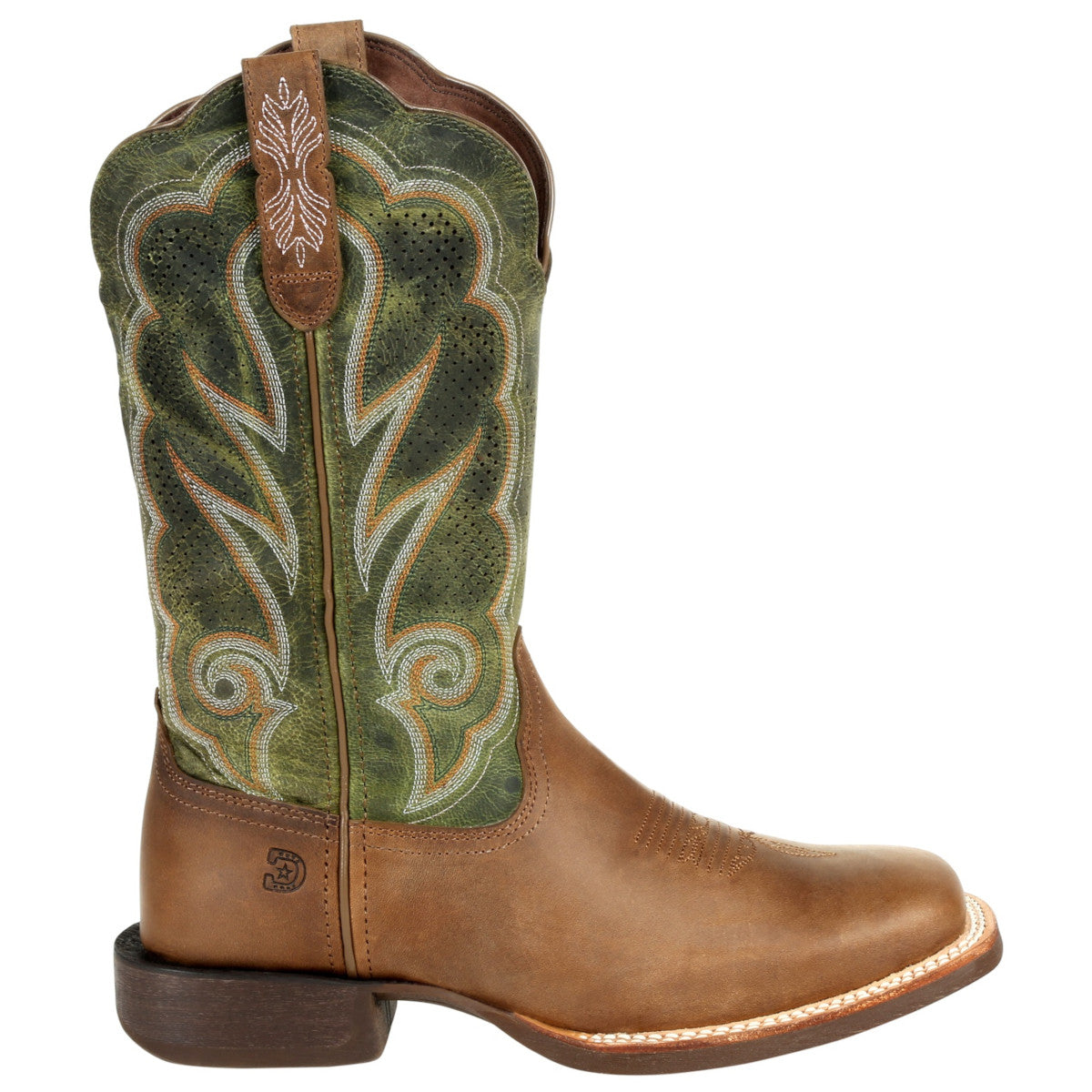 Durango Women's Lady Rebel Pro Ventilated Olive Cowgirl Boots