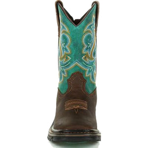 Georgia Kids' Turquoise Carbo Tec Cowboy Boots