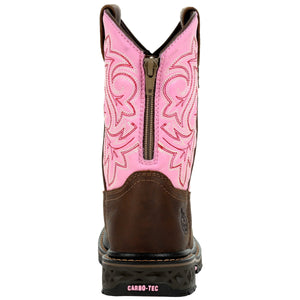 Georgia Kids' Pink Carbo Tec Cowgirl Boots