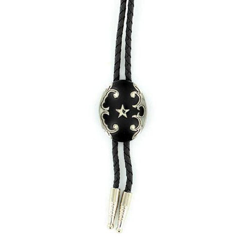 Double S Oval Bolo Tie