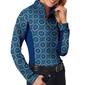 Romfh Women's Printed Long Sleeve Sun Shirt