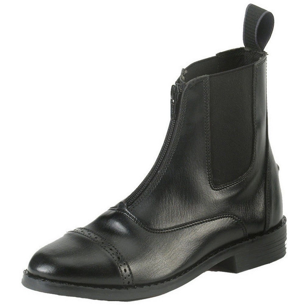 Equi-Star Women's Black All-Weather Synthetic Zip Paddock Boots