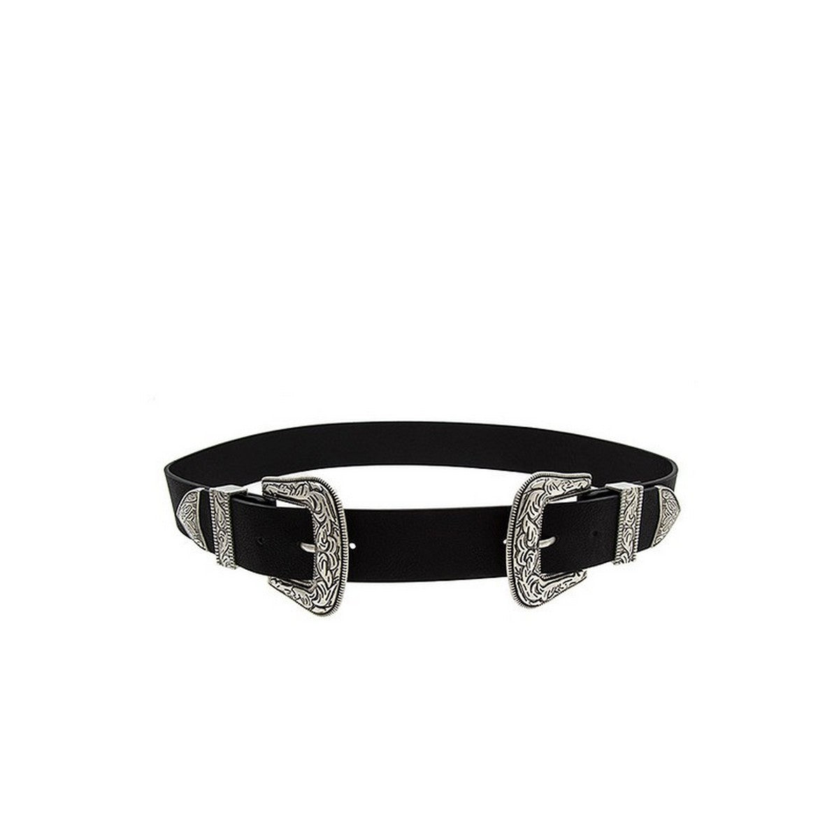 Women's Etched Double Side Buckle Fashion Belt