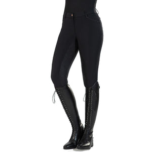 HKM Sports Women's Rose Gold Glamour Silicone Full Seat Breeches
