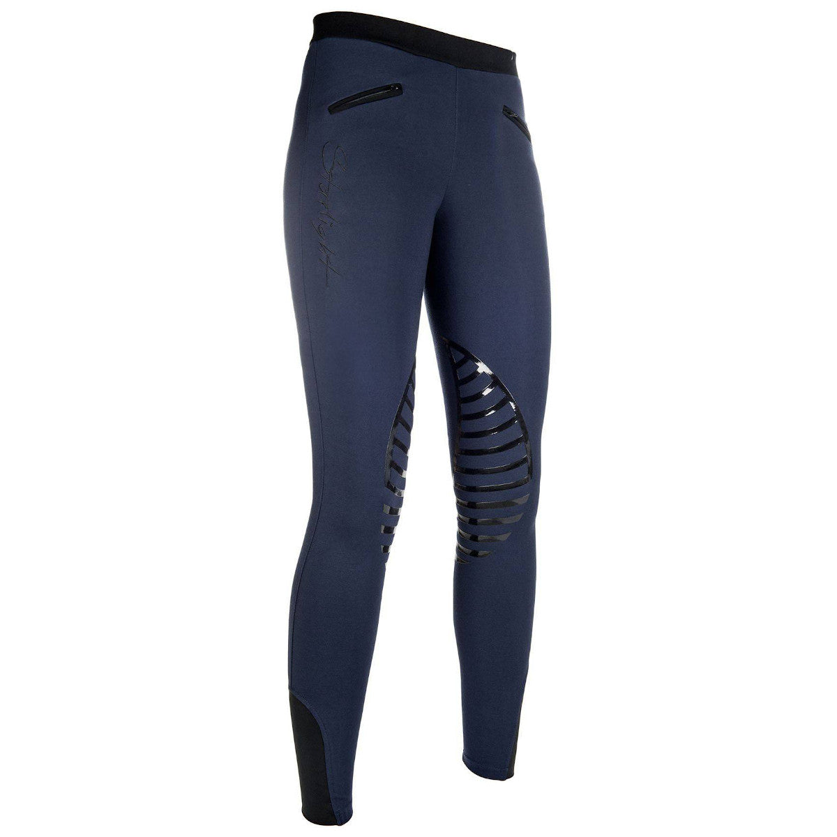 HKM Sports Kid's Starlight Silicone Knee Patch Riding Tights