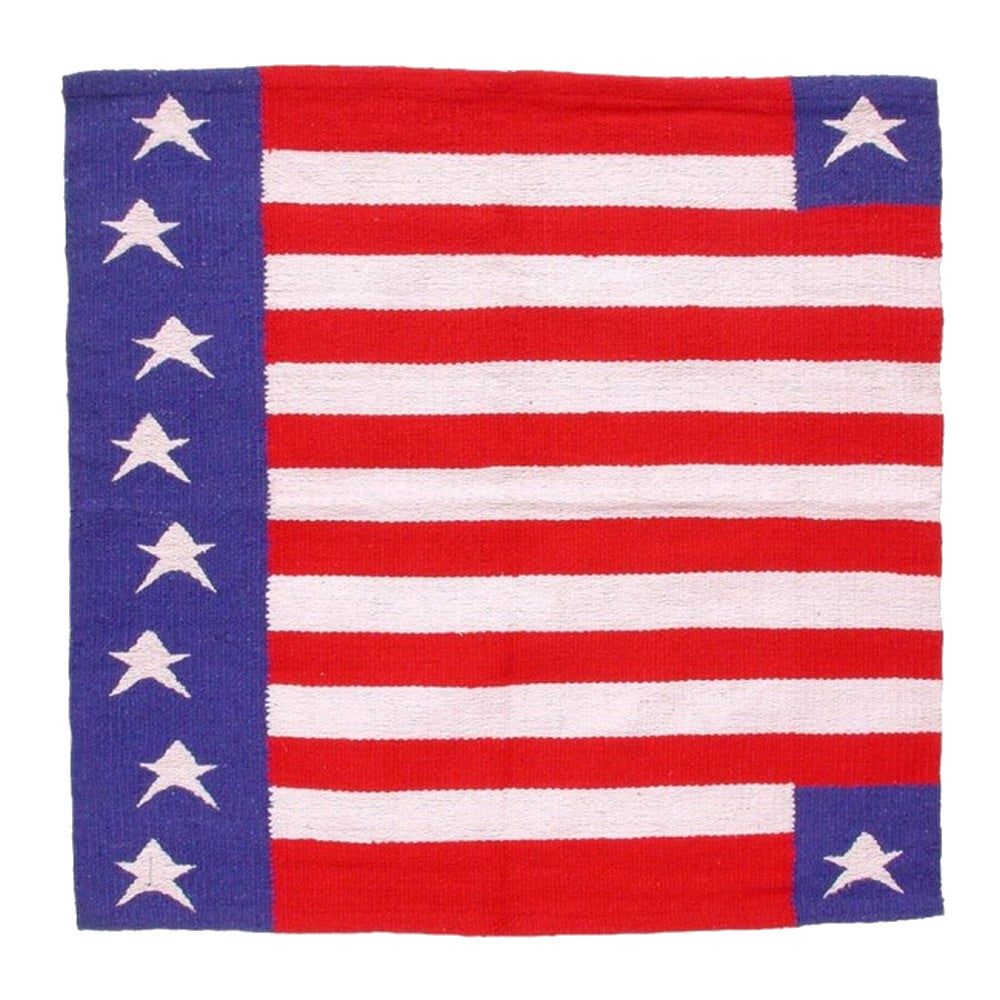 Tough-1 Patriotic American Flag Western Saddle Blanket