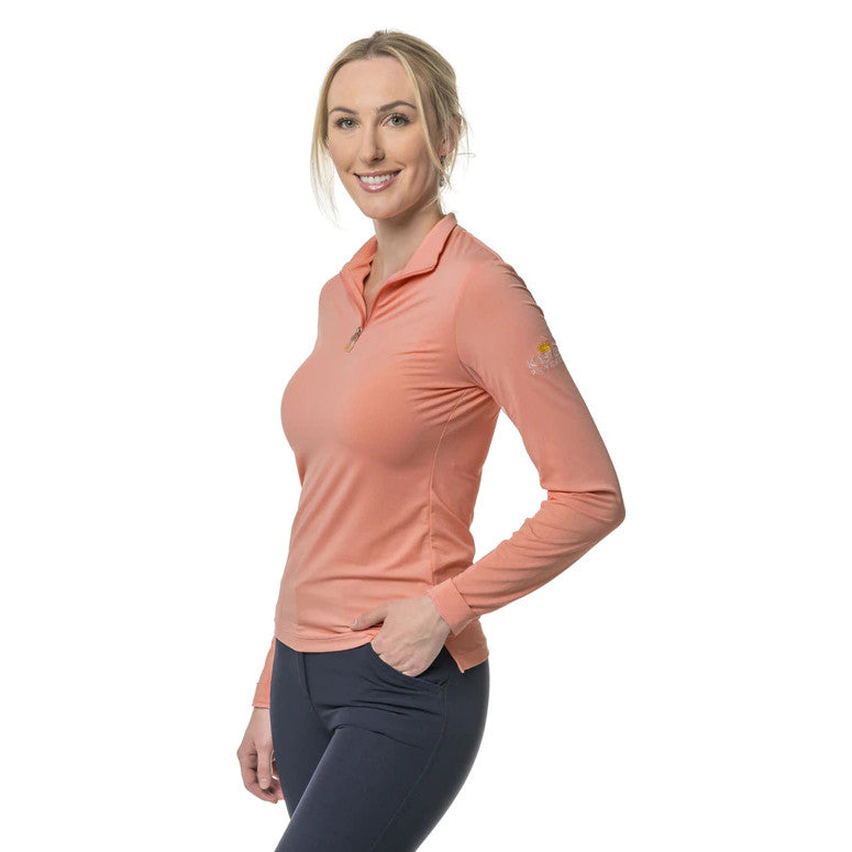 Kastel Denmark Women's Blush 1/4 Zip Long Sleeve Sun Shirt