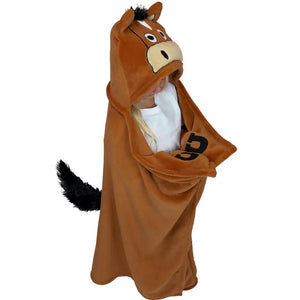 Lazy One Kids' Horse Hooded Blanket