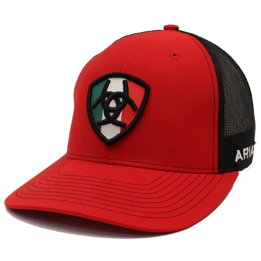 Ariat Men's Mexico Flag Shield Logo Cap