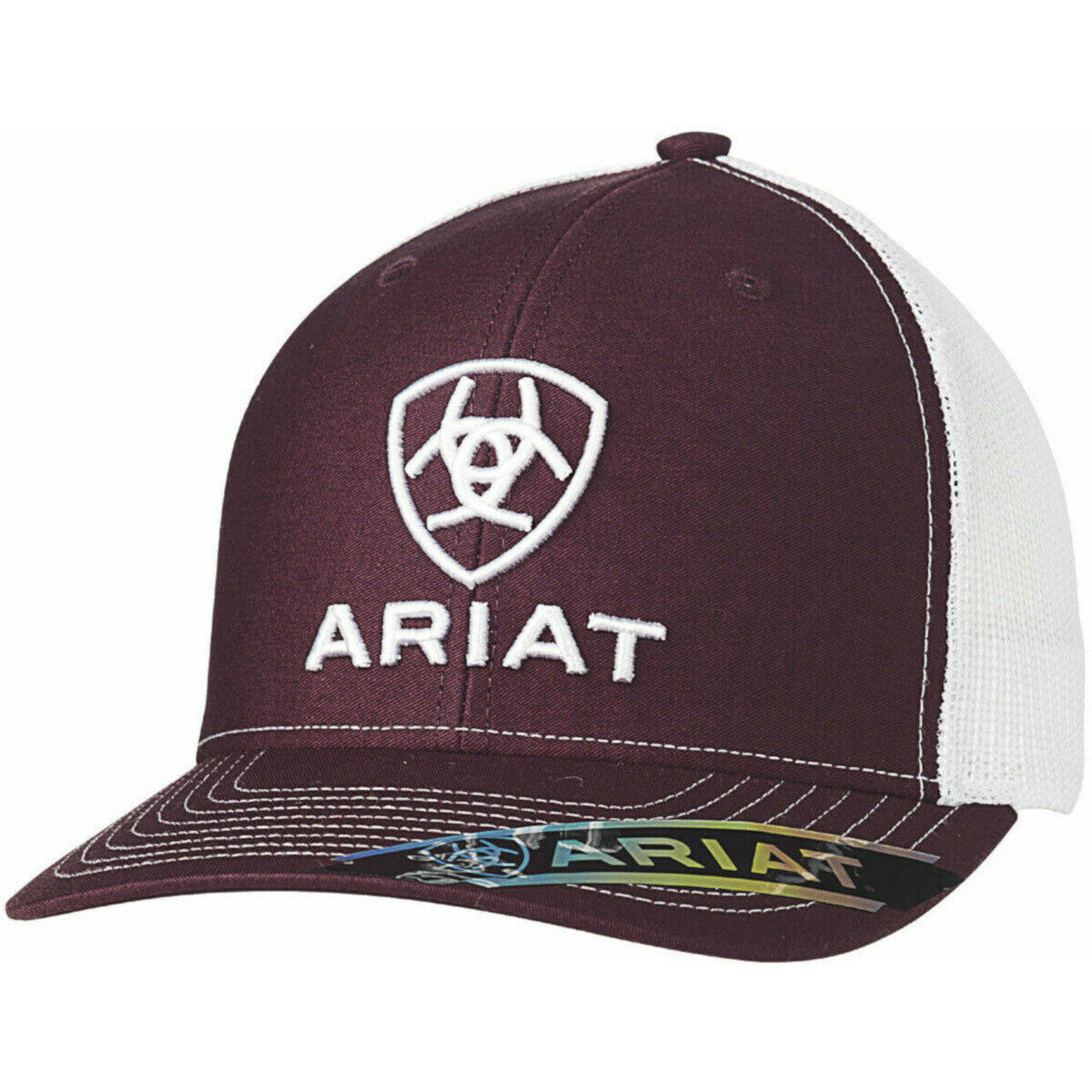 Ariat Burgundy & White Logo Cap