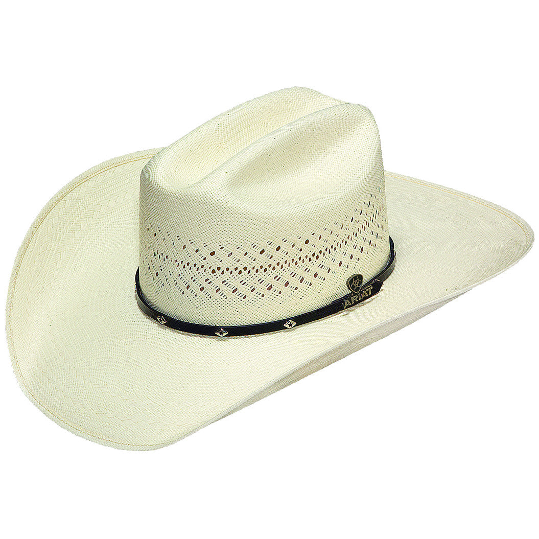 Ariat 20X Shantung Straw Diamond Concho Cowboy Hat