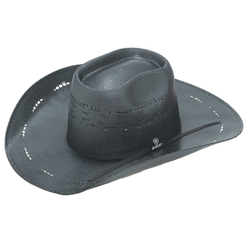 Ariat Black Rowdy Bangora Straw Cowboy Hat
