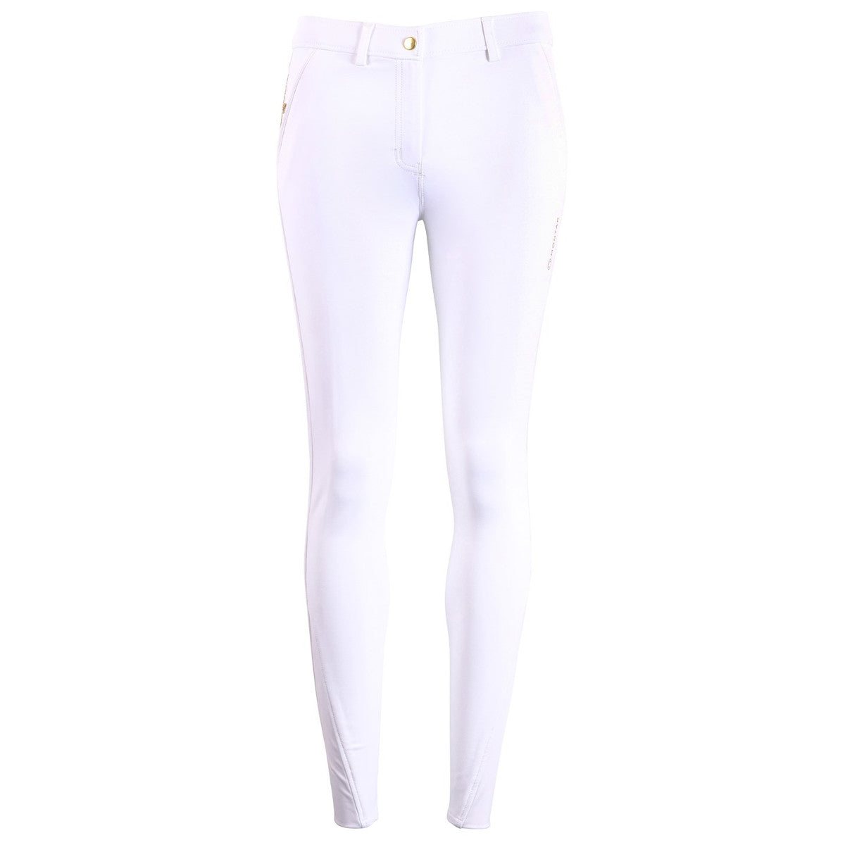 Montar Women's White Astrid Yati Full Seat Breeches