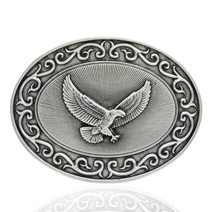 Montana Silversmiths Ready for Action American Eagle Attitude Belt Buckle
